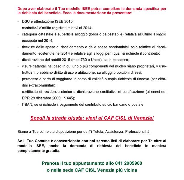 CAF CISL Venezia..... ULTIME NOTIZIE! - Cisl Venezia