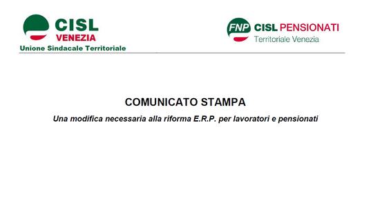 Cisl Venezia - Confederazione Italiana Sindacati Lavoratori